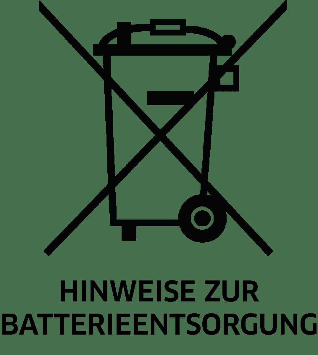 Hinweise zur Batterieentsorgung